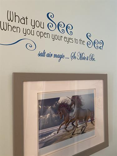 Custom prints and wall quotes - the possibilities are endless
