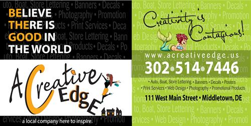 Welcome to A Creative Edge! Check Us out for a Unique way of Branding Your Business!