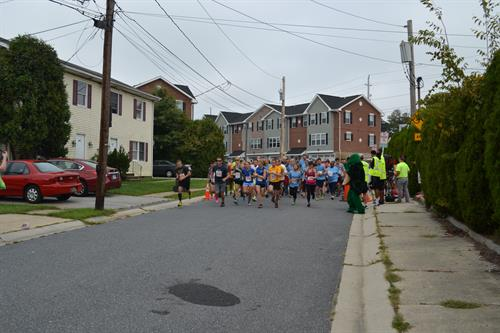 On Your Mark, Get Set, GO! Participants in ECC's Annual Sheldon Shuffle 5K take off from the starting line! Stay tuned for information on ECC's 2016 5k planned for September!