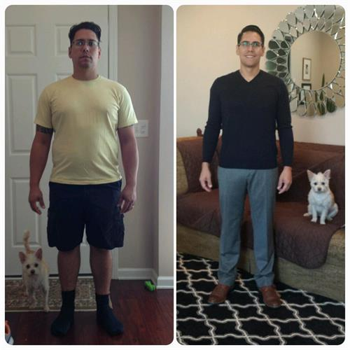 Joel, our neighbor in NC, lost 40 pounds in 8 weeks.