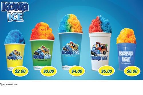 Kona Ice Menu