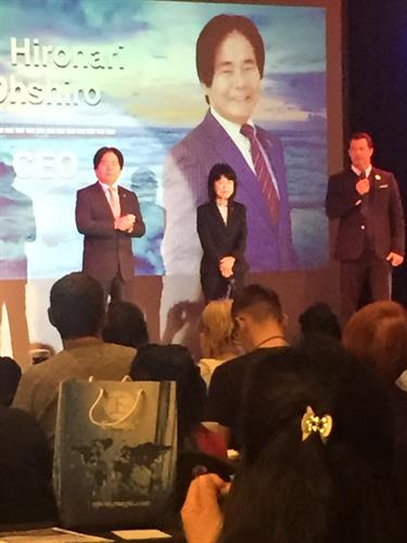 Mr. and Mrs, Hironari Oshiro, President and founder of Enagic Worldwide