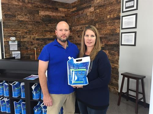Tim and Kami Visser in The Kangen Water Store of Delaware