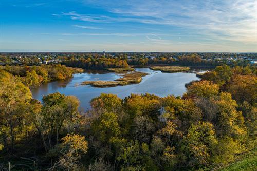 Aerial of Duck Creek