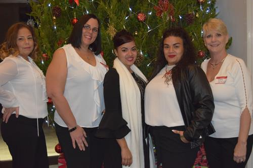 Our team at our Christmas Party 2018