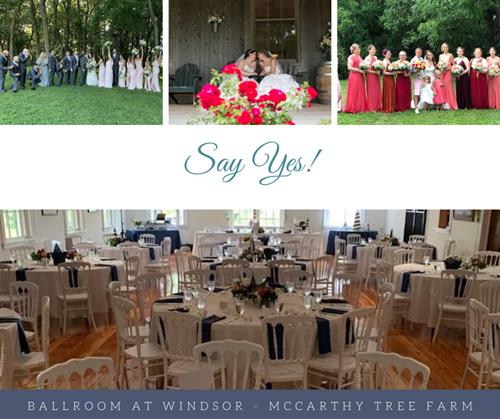 Say 'Yes' to the Ballroom at Windsor - McCarthy Tree Farm
