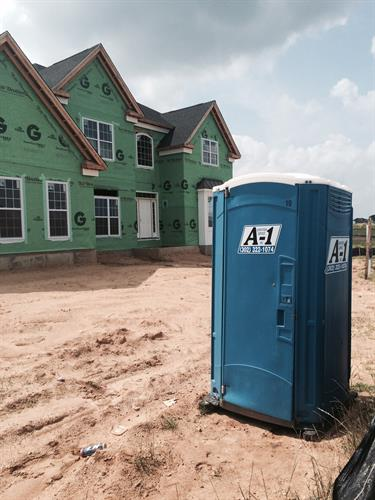 Need a portable toilet for your next construction project? Call us today!