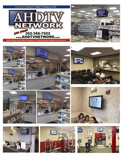 AHDTV Network Local Host Locations Atlantic Apothecary Pharmacies, Village 24hr Gym, Delaware Cardiovacular Dr's Offices, Elayne James Hair Salon