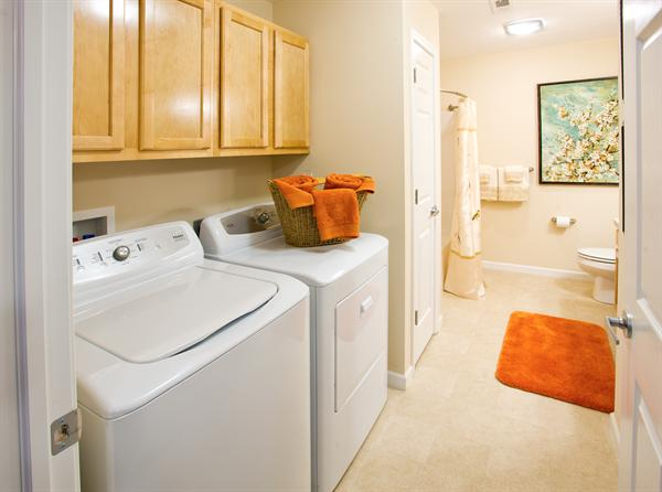 room for full size washers & dryers