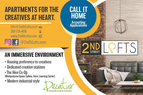 2nd Street Lofts in Decatur - Live. Create. Inspire.  Housing preference to creatives.