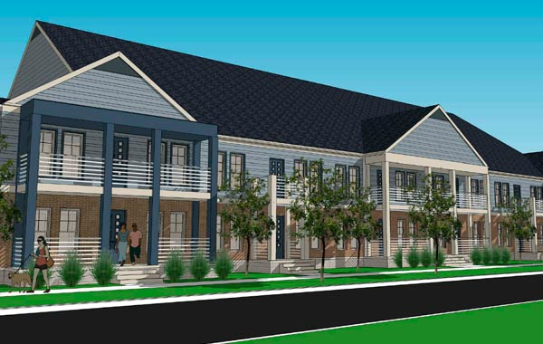 Phase I entails developing the now vacant McMillen Apartment parcel of land into the Scholar's House, a mixed community of housing, which consists of 44 large 2-3 bedroom apartments.
