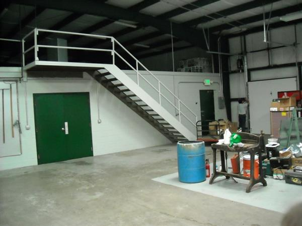 Warehouse Staircase - Fire (After)
