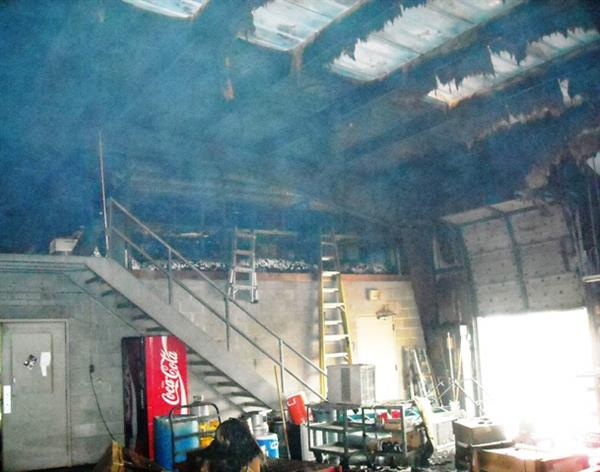 Warehouse Staircase - Fire (Before)