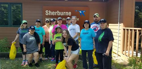 The AST team likes to have fun and try to help out our community at the same time. This is our annual team building day at National Sherburne Wildlife Refuge.