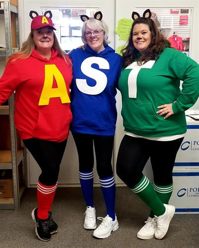 AST team members dressed up for Halloween