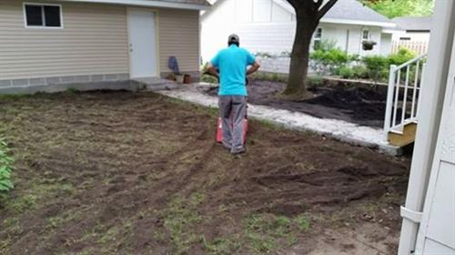 sod work before