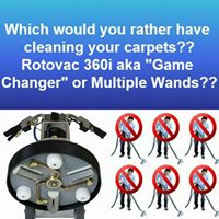 Would you rather have the Rotovac or 6 technicians cleaning your carpets?