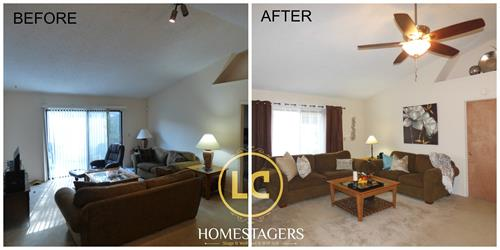 Before and After Occupied Home