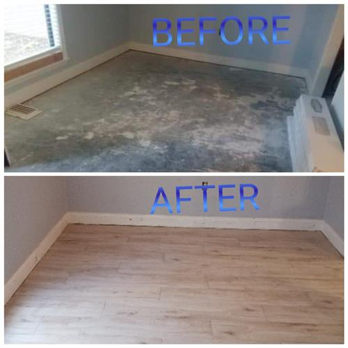 Flooring before and after