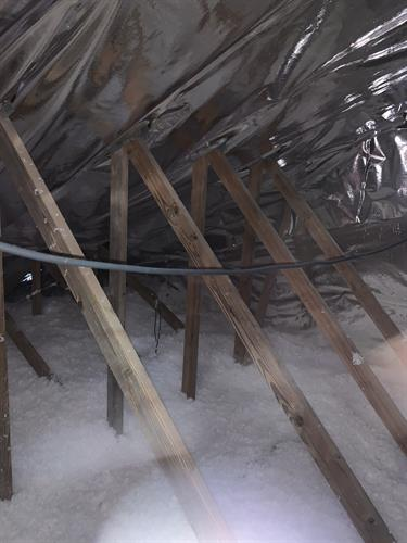Blown Insulation and Radiant barrier