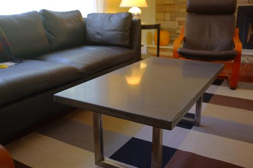 DAS concrete coffee table, happy in its new home.