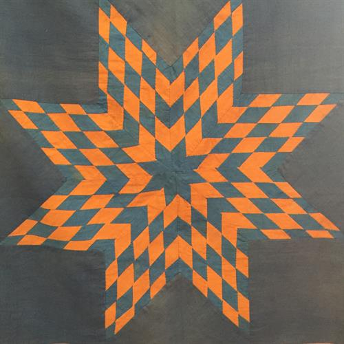 Star Burst Quilt Top from the late 1800s.