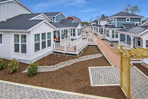 Rail Road Cottages - Falls CHurch, Va. - assembly, entitlement, construction, and delivery of 10 cottage homes plus Common House built to EarthCraft Gold standards and age restricted to those 55+