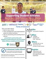 (WEBINAR) Supporting Student-Athletes: Sports injury rehab & academic tips