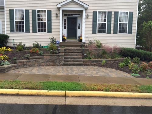 Curb appeal, designed and installed by Terra Landscape and Design