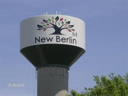 Our new freshly painted water tower