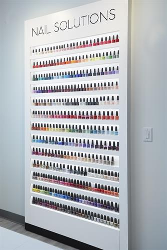 Rainbow of Nail Polish color selections