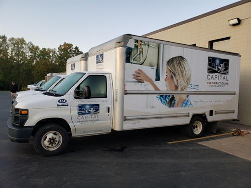 Capital Heating & Cooling commercial cleaning truck