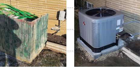 Before & after ac replacement