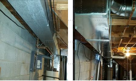 Before & after ductwork installation