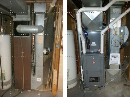 Before & after furnace/humidifier installation