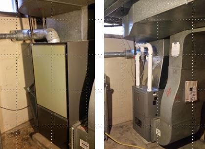 Before & after furnace installation