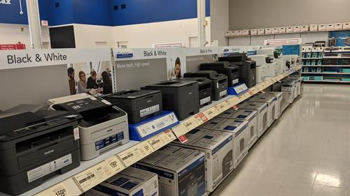 Array of Laser and Inkjet Printers from Various Manufacturers