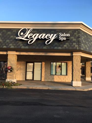 We are inside Legacy Salon