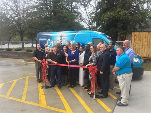 Our Ribbon Cutting with the Fayetteville Chamber!