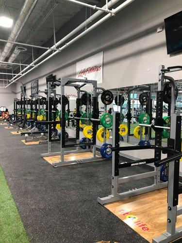 30,000 sq feet - powerlifting stations for day
