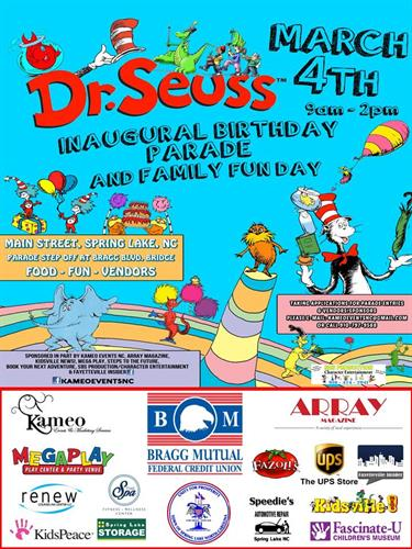 Dr, Seuss Birthday Parade - March 4th; 9 AM