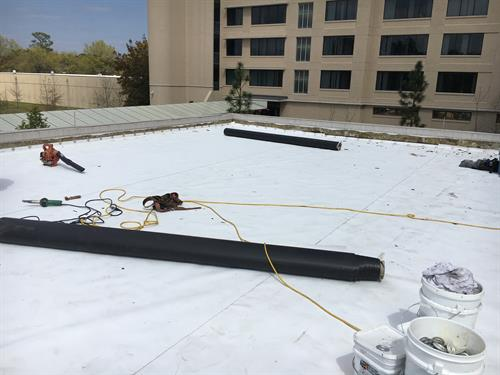 TPO Roofing Project at Ft Bragg Support Center