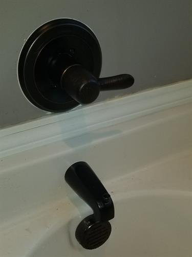 Install new tub handle and faucet