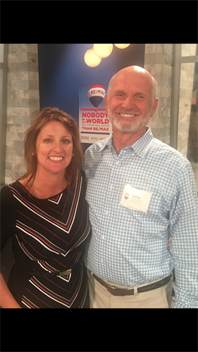 Kim and Gary Robinson at RE/MAX LLC Headquarters in Denver, CO