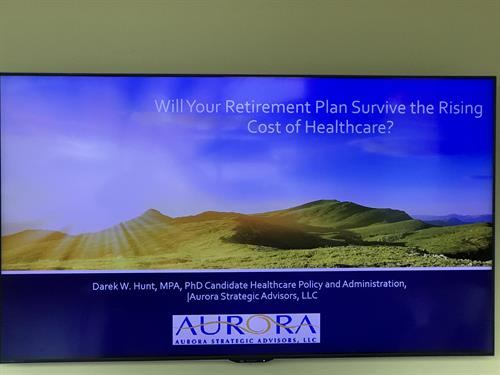 Workshop on Rising Cost Healthcare and the impact on Retirement Planning