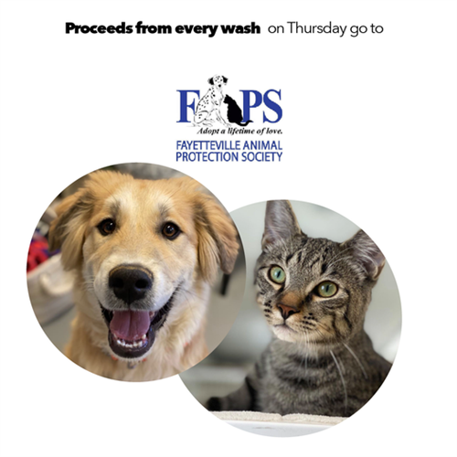 t Tommy's Express, we are more than just a car wash. We believe in enriching lives, adding value, and serving communities. We had a blast partnering with the the Fayetteville Animal Protection Society for International Dog Day! Contact us for future partnerships