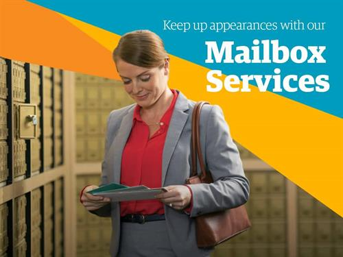 Mailbox Services with street address.