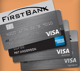 PERSONAL OR BUSINESS CARDS Personal and Business Credit Cards are available now.