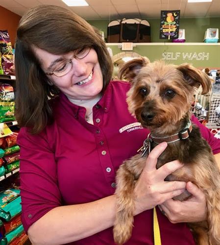 Staff Sherry and Customer Sam