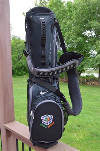 Golf bags are a higher-end give away for a golf tournament. Your logo will shine and be a reminder to evryone who sees it.